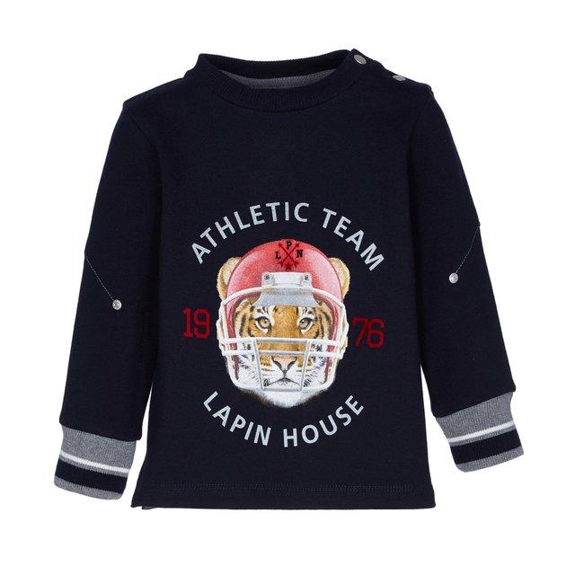 LAPIN HOUSE Boys Navy Bleu Tiger Sweater