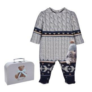 LAPIN HOUSE Boys Blue & Grey Babysuit Gift Set