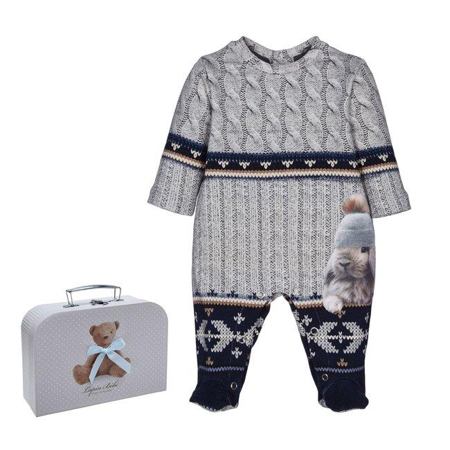 LAPIN HOUSE Jongens Blauw & Grijs Baby Gift Set