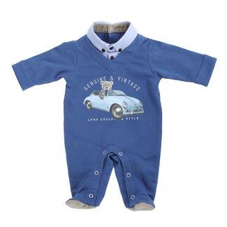 LAPIN HOUSE Boys Blue Babygrow
