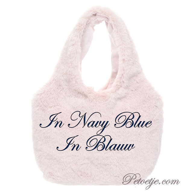 LAPIN HOUSE Girls Navy Blue Faux Fur Handbag (14cm)