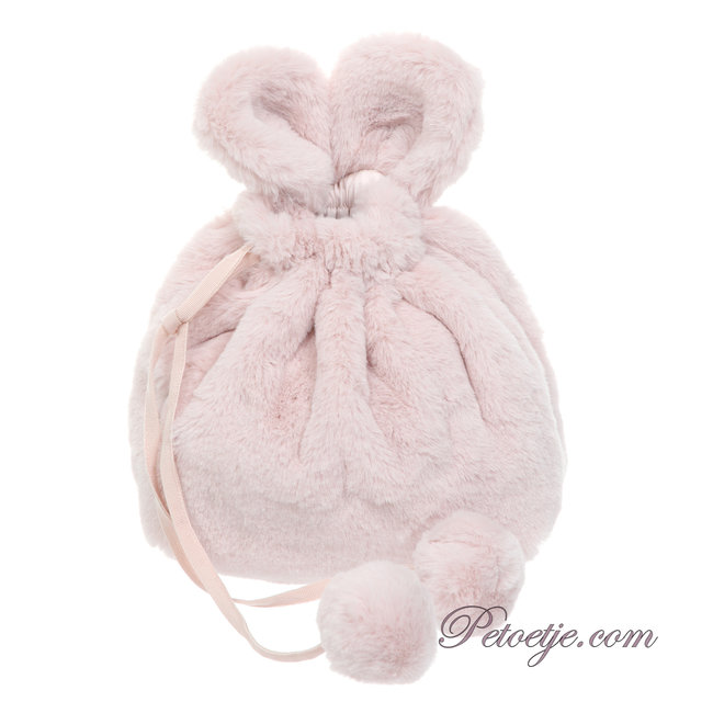 LAPIN HOUSE Pink Faux Fur Backpack