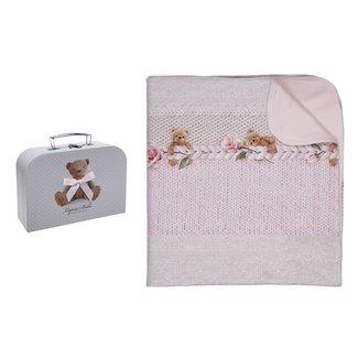 LAPIN HOUSE Baby Meisjes Roze Deken - Gift Set