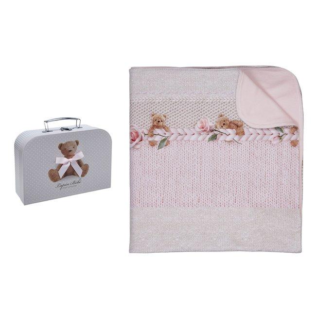 LAPIN HOUSE Baby Meisjes Roze Deken - Gift Set Beer