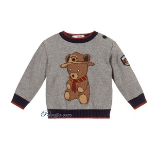 DR. KID Boys Grey Knitted Sweater