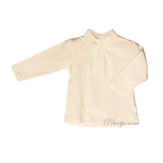 DR. KID Meisjes Ecru T-Shirt Rolkraag