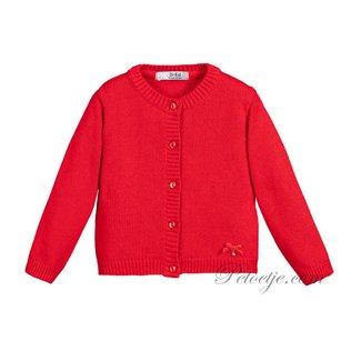 DR. KID Girls Red Wool Cardigan