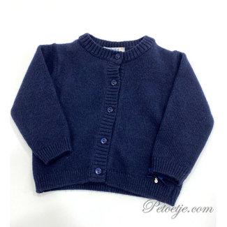 DR. KID Girls Navy Blue Wool Cardigan