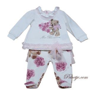MISS BLUMARINE  White & Pink 2 Piece Babygrow
