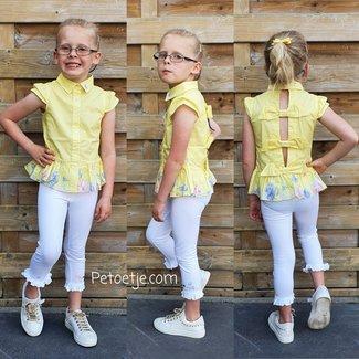 LAPIN HOUSE Gele Blouse & Witte Legging Set