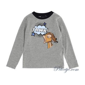 MONNALISA Jongens Grijze Bambi T-Shirt - Yawn
