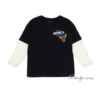 MONNALISA Jongens Blauw & Ecru Bambi T-Shirt