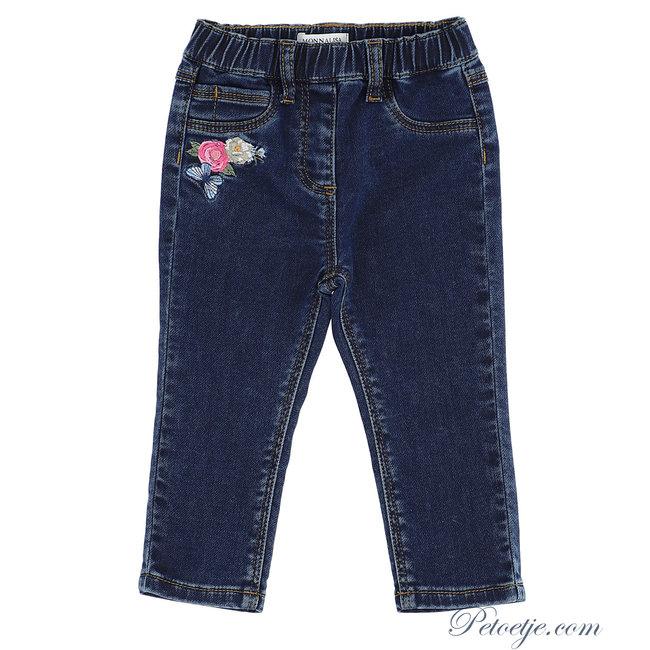 MONNALISA Girls Blue Disney Denim Trousers