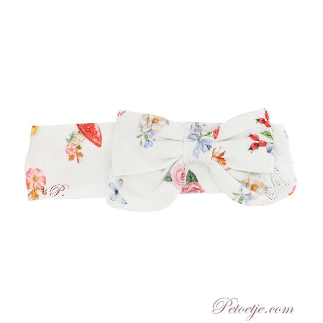 MONNALISA Baby Girls Ivory Floral Headband