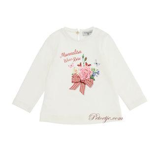 MONNALISA Baby Meisjes Ecru T-Shirt