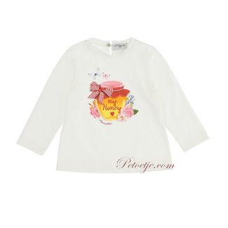 MONNALISA Baby Meisjes Ecru Honing T-Shirt
