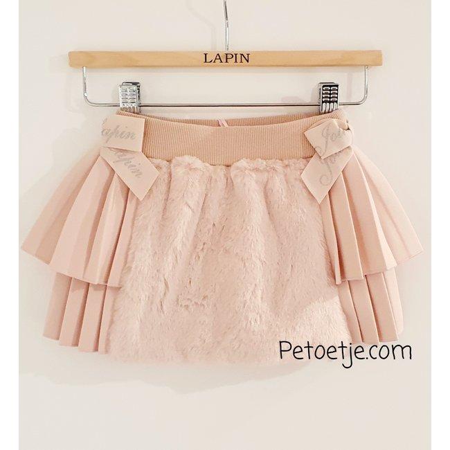 LAPIN HOUSE Girls Pink Faux Fur Skirt