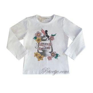 LIU JO Meisjes Witte T-shirt - Fairy