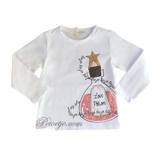LIU JO Meisjes Witte T-shirt - Love