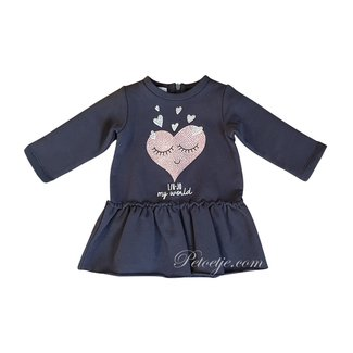 LIU JO Baby Girls Grey Jersey Sweater Dress
