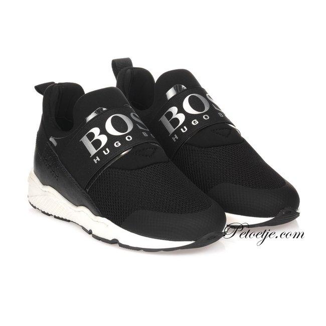 HUGO BOSS Kidswear  Boys Black Logo Trainers