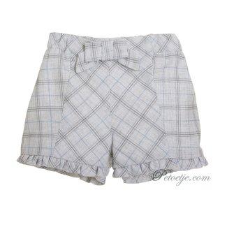 PATACHOU Girls Grey Checked Shorts