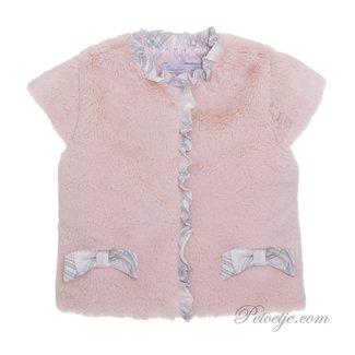 PATACHOU Girls Pink Faux Fur Gilet