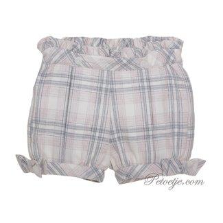 PATACHOU Girls Grey & Pink Check Shorts