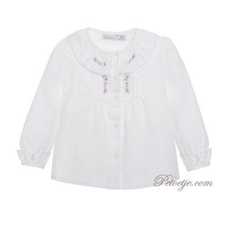 PATACHOU Girls Ivory Cotton Top