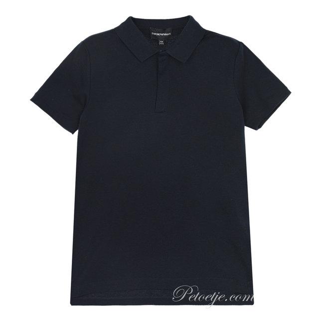 EMPORIO ARMANI Boys Blue Logo Polo Shirt