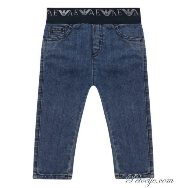 EMPORIO ARMANI Baby Boys Blue Denim Jeans