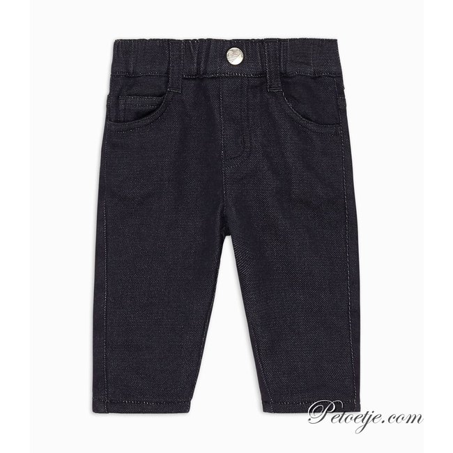 EMPORIO ARMANI Baby Boys Blue Lined Denim Jeans