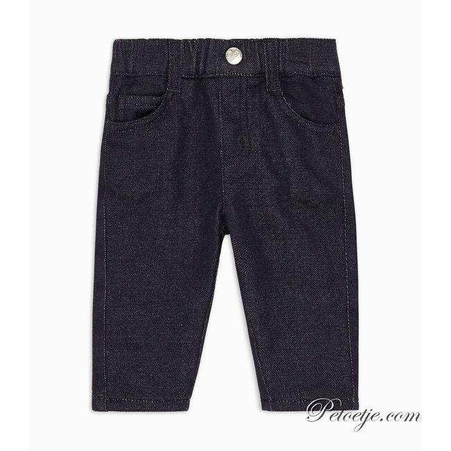 EMPORIO ARMANI Baby Jongens Blauwe Gevoerde Stretch Denim Jeans Broek