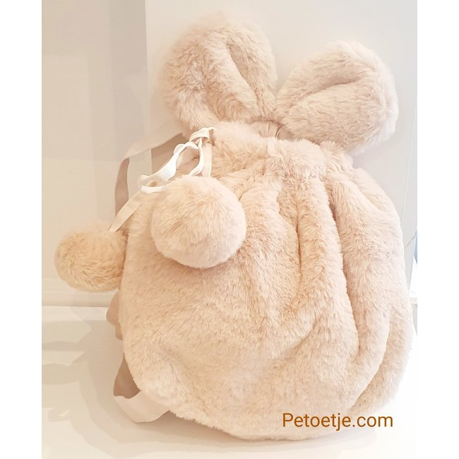 LAPIN HOUSE Beige Faux Fur Backpack