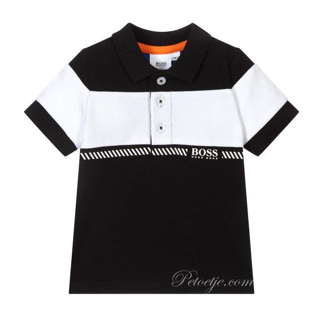 HUGO BOSS Kidswear  Black & White Logo Polo Shirt