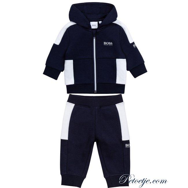 HUGO BOSS Kidswear  Baby Boys Blue Logo Tracksuit