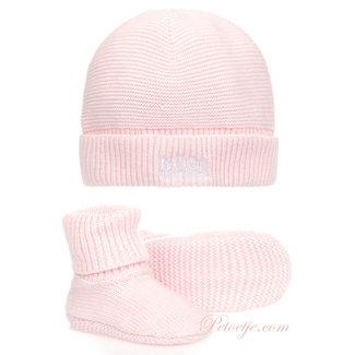 HUGO BOSS Kidswear  Pink Hat & Booties Gift Set