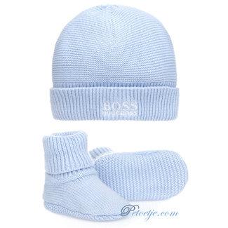 HUGO BOSS Kidswear  Blue Hat & Booties Gift Set