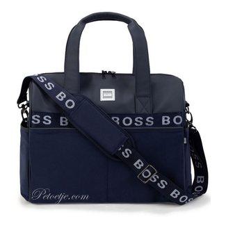 HUGO BOSS Kidswear  Blauwe Logo Baby Verzorgingstas (38cm)