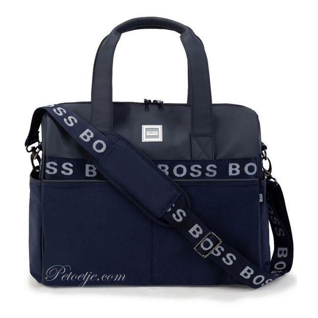 HUGO BOSS Kidswear  Blauwe Logo Baby Luiertas (38cm)