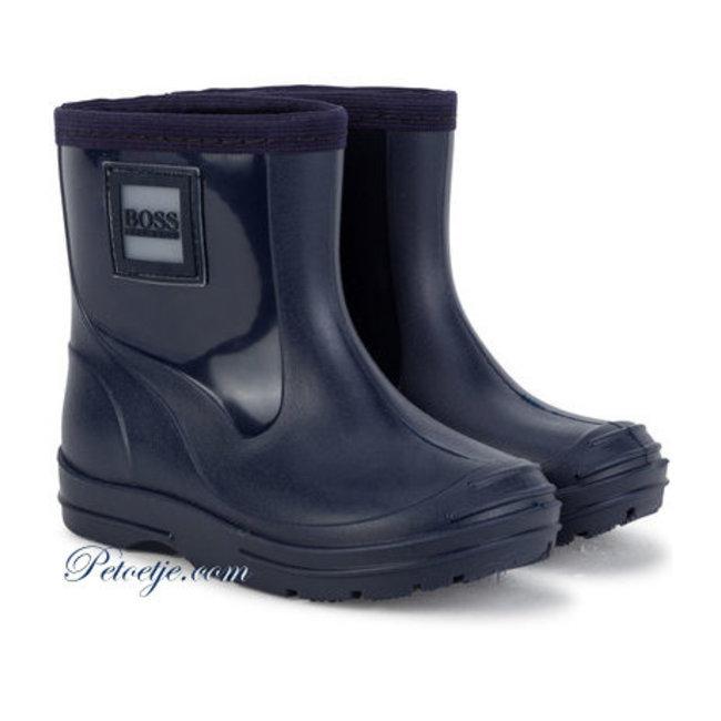 HUGO BOSS Kidswear  Navy Blue Rain Boots