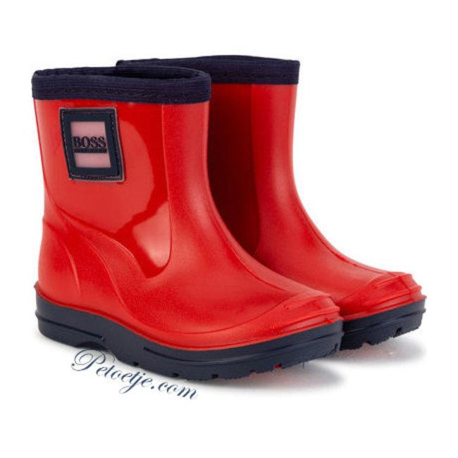 HUGO BOSS Kidswear  Red & Blue Rain Boots