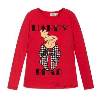 EMC Girls Red Cotton Disney Top