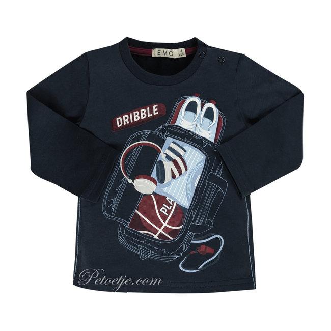 EMC Jongens Blauwe Basketbal T-Shirt - Dribble