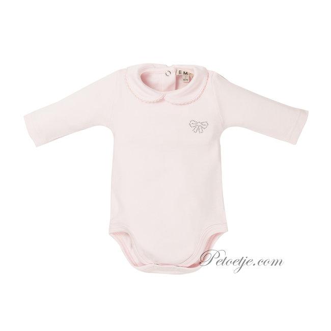 EMC Girls Pink Cotton Bodysuit