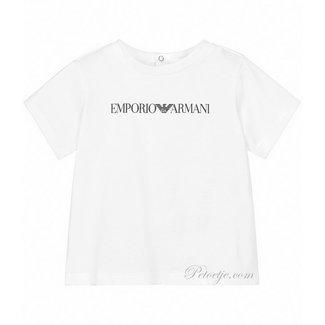 EMPORIO ARMANI Baby Jongens Witte Logo T-Shirt