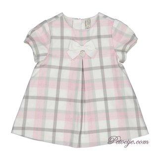 TRYBEYOND Baby Meisjes Roze Geruite Jurk