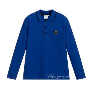 HUGO BOSS Kidswear  Blauwe Piqué Polo Shirt