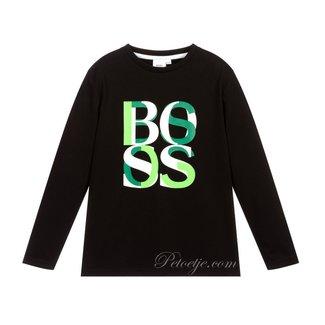 HUGO BOSS Kidswear  Zwart & Groene Logo Top