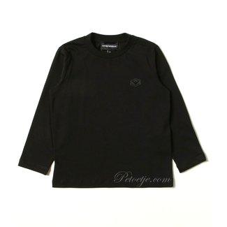 EMPORIO ARMANI Jongens Zwarte Logo T-Shirt